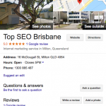 Google My Business for Top SEO Brisbane