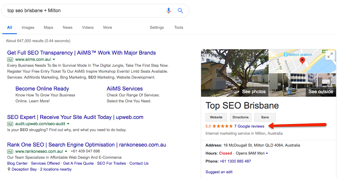 Top SEO Brisbane GMB